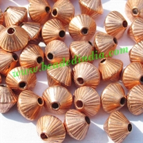 Metallic Plated Acrylic Beads, Copper Coated, size 6mm