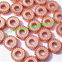 Metallic Plated Acrylic Beads, Copper Coated, size 3x10mm