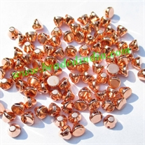 Metallic Plated Acrylic Beads, Copper Coated, size 4x5mm