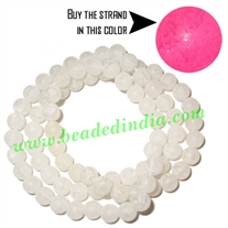 Fancy Achrylic Plastic Beads in strands, size : 5.5mm