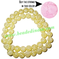 Fancy Achrylic Plastic Beads in strands, size : 9mm