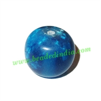 Resin Fancy Beads, Size : 14x16mm, weight 2.71 grams, pack of 100 Pcs.
