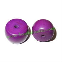 Resin Fancy Beads, Size : 11x16mm, weight 2.38 grams, pack of 100 Pcs.