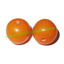 Resin Fancy Beads, Size : 15mm, weight 2.36 grams, pack of 100 Pcs.