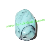 Resin Fancy Beads, Size : 11x14x21mm, weight 2.78 grams, pack of 100 Pcs.