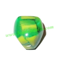Resin Fancy Beads, Size : 18mm, weight 4 grams, pack of 100 Pcs.
