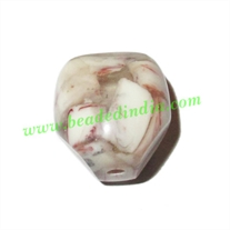 Resin Fancy Beads, Size : 18mm, weight 4.18 grams, pack of 100 Pcs.