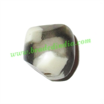 Resin Fancy Beads, Size : 18mm, weight 4.15 grams, pack of 100 Pcs.