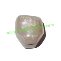 Resin Fancy Beads, Size : 18mm, weight 3.9 grams, pack of 100 Pcs.