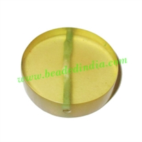 Resin Fancy Beads, Size : 8x30mm, weight 7.68 grams, pack of 100 Pcs.