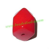 Resin Fancy Beads, Size : 16x22mm, weight 5.92 grams, pack of 100 Pcs.