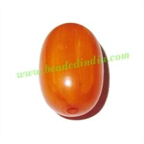 Resin Plain Beads, Size : 17x27mm, weight 5.35 grams, pack of 500 grams.