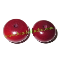 Resin Plain Beads, Size : 11x17mm, weight 2.46 grams, pack of 500 grams.