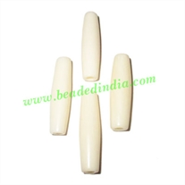 Bone hairpipes white, size : 1.5 inches