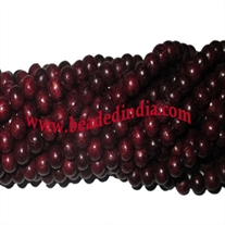 Wholesale natural rosewood beads mala without knots, pack of 20 strings, size of beads 10mm