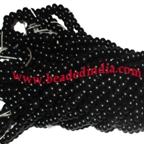 Wholesale real ebony black wood beads mala without knots, pack of 20 strings, size of beads 5mm