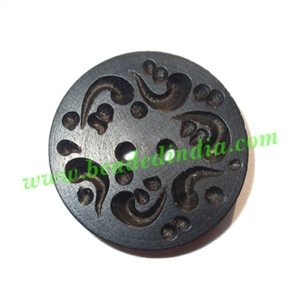 Handmade wood buttons, size : 30mm
