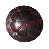 Handmade wood buttons, size : 35mm