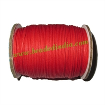 High quality round cotton waxed cords 4.0mm (four mm)