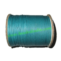High quality round cotton waxed cords 2.0mm (two mm)