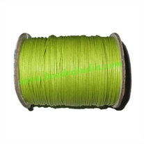 High quality round cotton waxed cords 1.0mm (one mm)