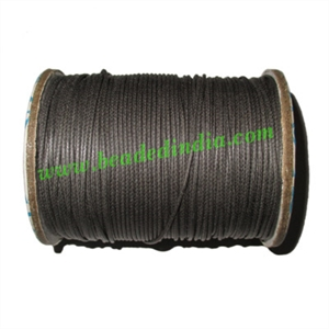 High quality round cotton waxed cords 0.5mm (half mm)