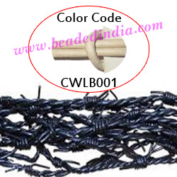 Barb Wire Leather Cords 2.5mm round, regular color - white.