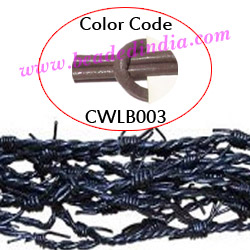 Barb Wire Leather Cords 2.5mm round, regular color - tan.