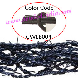 Barb Wire Leather Cords 2.5mm round, regular color - carbon grey.
