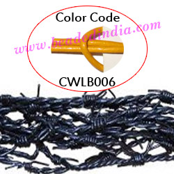 Barb Wire Leather Cords 2.5mm round, regular color - yellow.