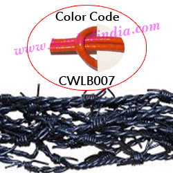 Barb Wire Leather Cords 2.5mm round, regular color - orange.