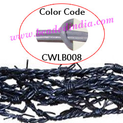 Barb Wire Leather Cords 2.5mm round, regular color - lavender.