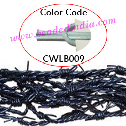 Barb Wire Leather Cords 2.5mm round, regular color - sky blue.