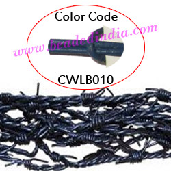 Barb Wire Leather Cords 2.5mm round, regular color - blue.