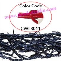 Barb Wire Leather Cords 1.5mm round, regular color - red.