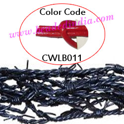 Barb Wire Leather Cords 2.5mm round, regular color - red.