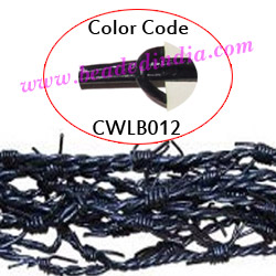 Barb Wire Leather Cords 2.5mm round, regular color - violet.