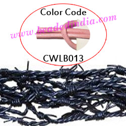 Barb Wire Leather Cords 2.5mm round, regular color - baby pink.