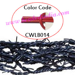 Barb Wire Leather Cords 2.5mm round, regular color - magenta.