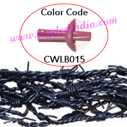 Barb Wire Leather Cords 2.5mm round, regular color - light purple.