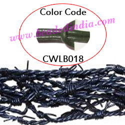 Barb Wire Leather Cords 2.5mm round, regular color - bottle green.