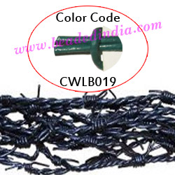 Barb Wire Leather Cords 2.5mm round, regular color - leaf green.