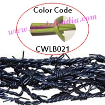 Barb Wire Leather Cords 1.0mm round, regular color - parrot green.