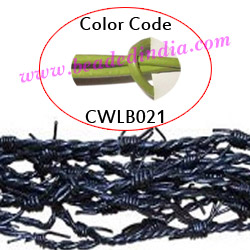 Barb Wire Leather Cords 2.5mm round, regular color - parrot green.