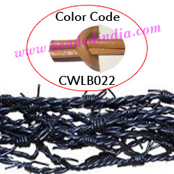Barb Wire Leather Cords 2.5mm round, regular color - beige.