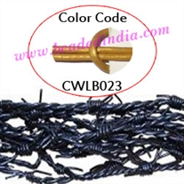 Barb Wire Leather Cords 1.5mm round, metallic color - golden.