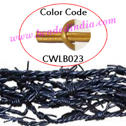Barb Wire Leather Cords 2.5mm round, metallic color - golden.