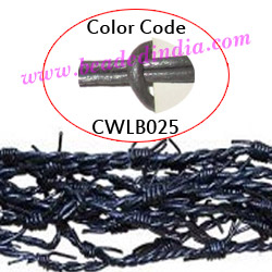 Barb Wire Leather Cords 2.5mm round, metallic color - grey.