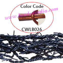 Barb Wire Leather Cords 2.5mm round, metallic color - copper.