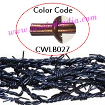 Barb Wire Leather Cords 1.0mm round, metallic color - bronze.